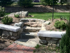 Stone Steps to a Lawn